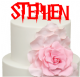 Harry Font Personalised Name Cake Acrylic Topper